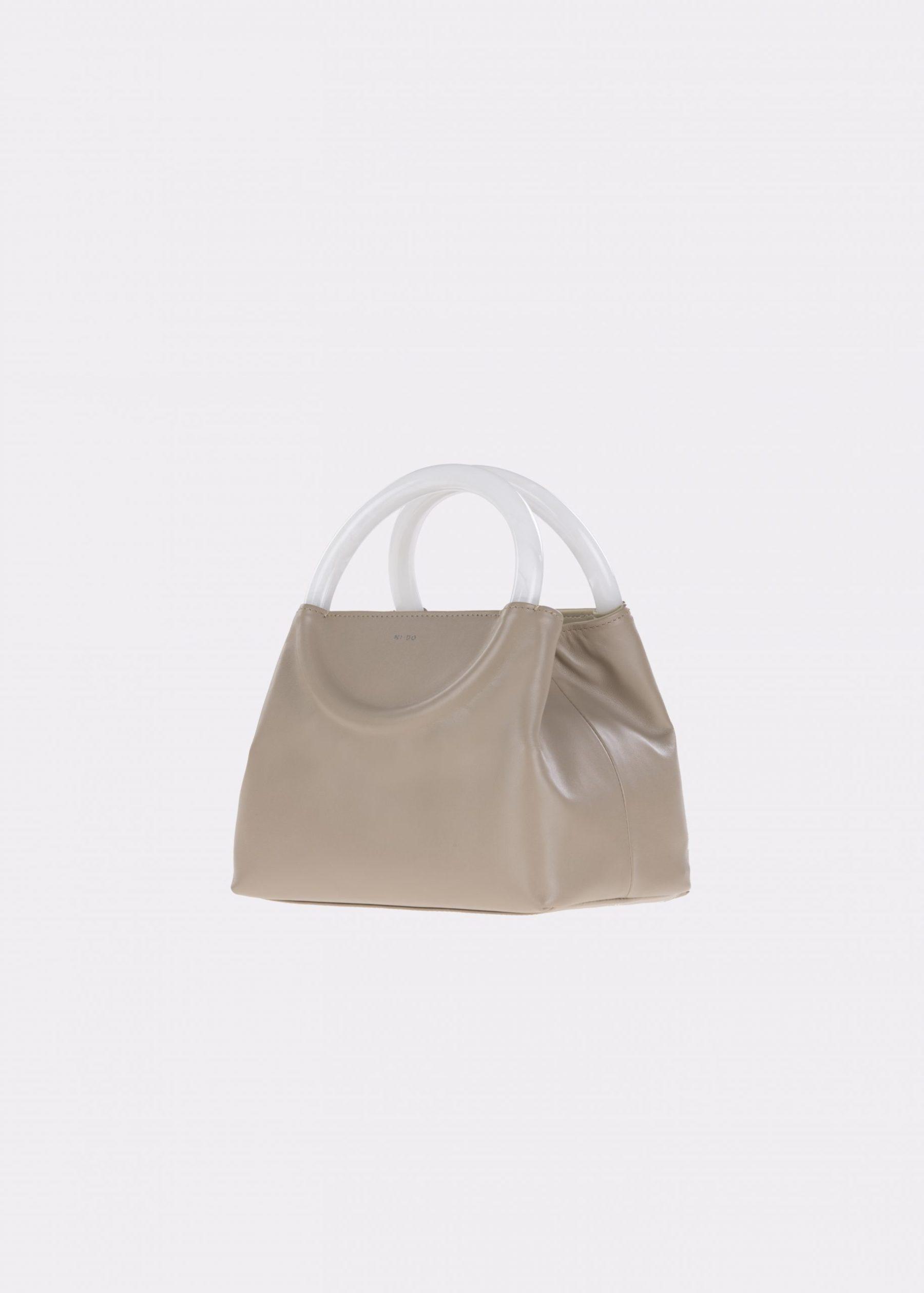 NIDO-Bolla_Mini-bag-MUD-Pearl_side view