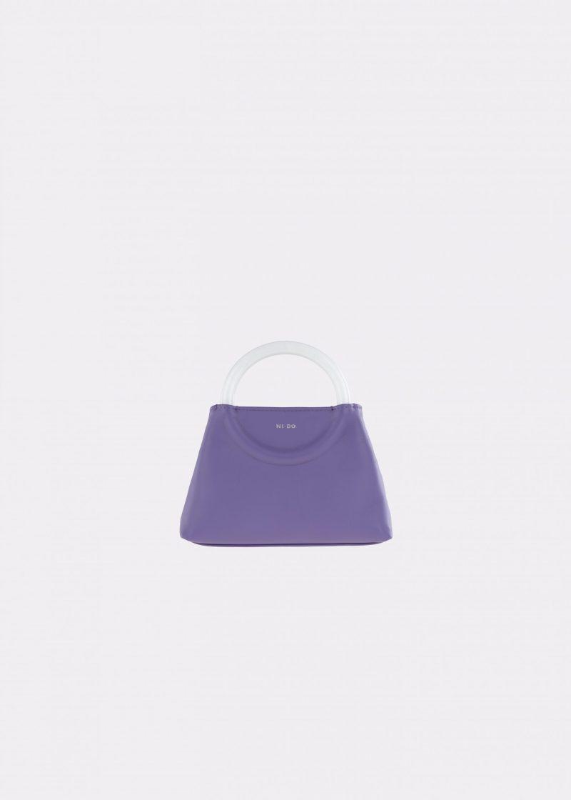 NIDO-Bolla_Mini-bag-Violetta-Pearl_front view
