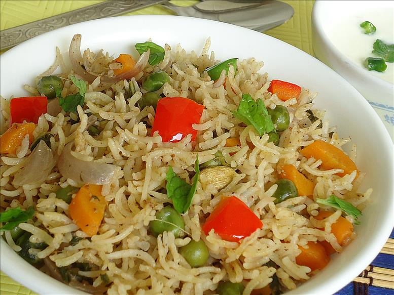 5 vegetable pulao
