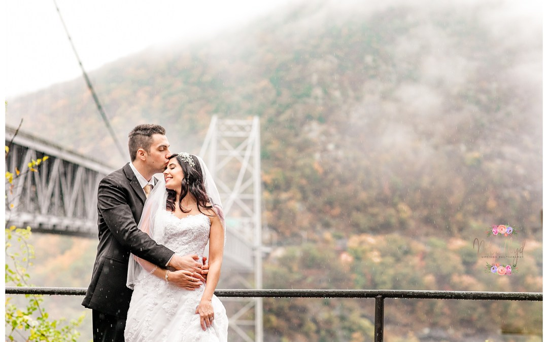 A Rainy, Foggy, Fall Wedding at Bear Mountain
