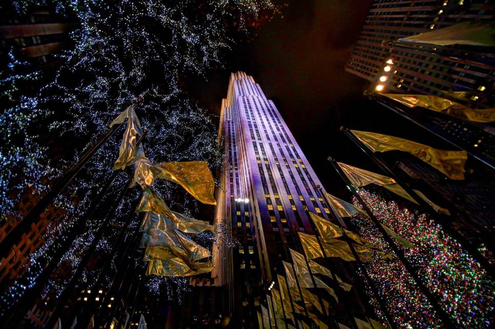 Rockefeller Center im Xmas-Look