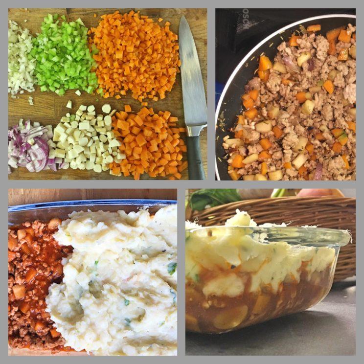 Przygotowanie Shepard's pie
