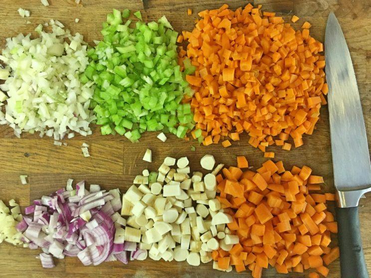 Zapiekanka pasterska - warzywa z rosołu