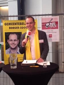 Tijdens het lijsttrekkersdebat bij RTV Drenthe, 4 maart in Assen