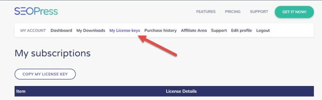 Seopress My License Key