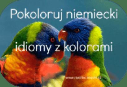 Pokoloruj niemiecki – idiomy niemieckie z kolorami (2)