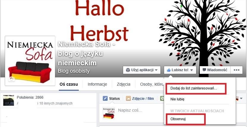 Niemiecka Sofa na Facebooku