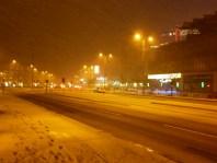 snow on Korsvägen
