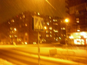 Snow and wind = blurry photos