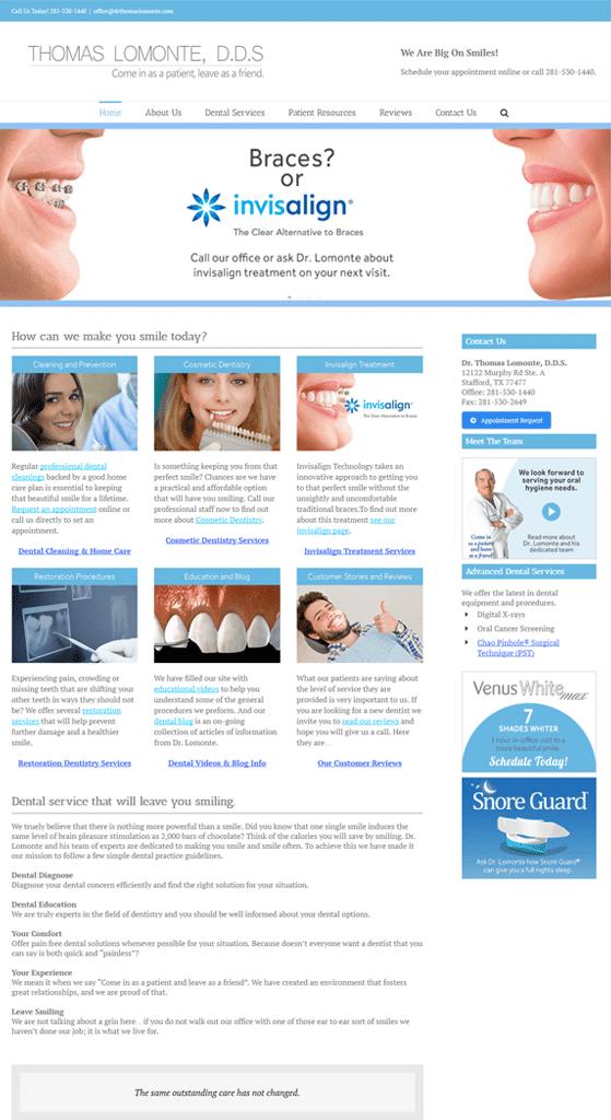 Dr Lomonte web design