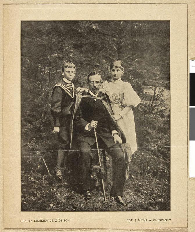 Henryk Sienkiewicz z dziećmi w Zakopanem