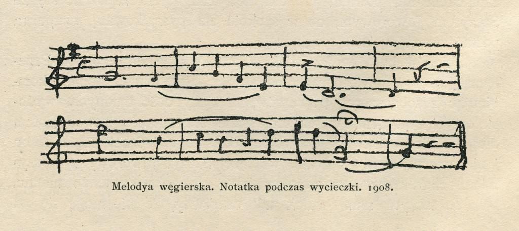 Melodia węgierska. Notatka