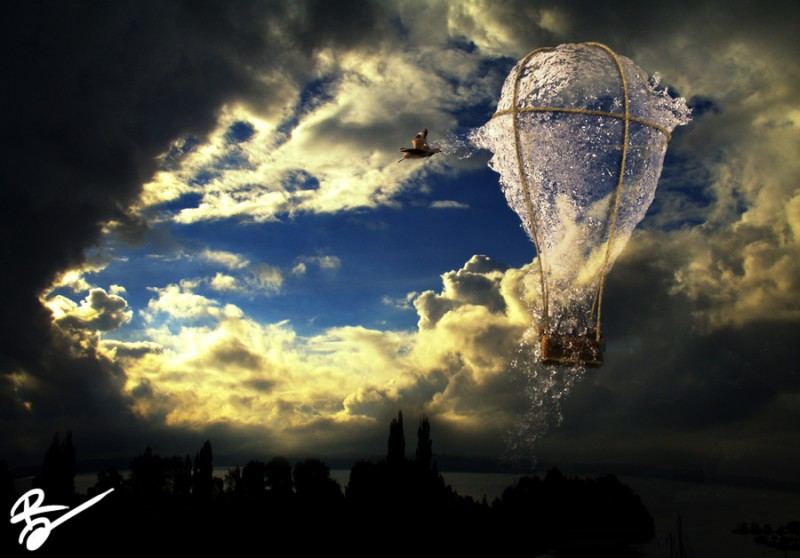What if a water balloon could carry us up in the air? When dreams come true and carry us through our daily lives.