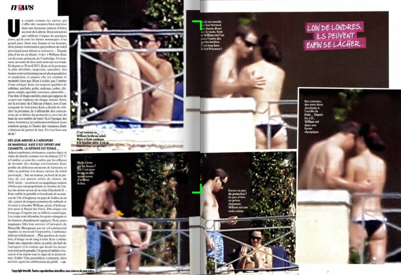 Kate Middleton naakt/topless in Franse tabloid (4)
