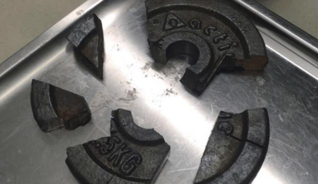 Gewicht van een halter