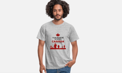 Thank you canada liberation t-shirt 75 years of freedom