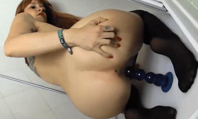 seks met zuignapdildo