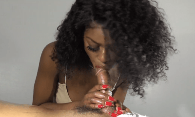 POV ebony blowjob