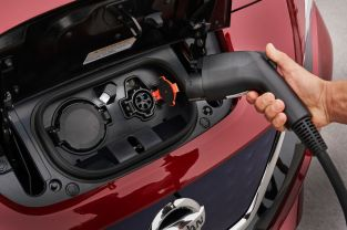 2018 Nissan Leaf charge ports