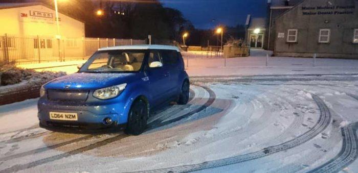 Kia Soul EV in the Snow