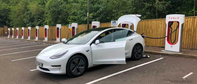 Tesla Supercharger - Perth Scotland