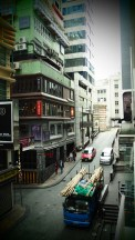 LKF, the party district, and a van carrying bamboo for scaffolding