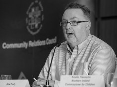 Mick FEALTY (Slugger O'Toole) @MickFealty. Conference: One Place - Many People, Community Relations Council, Stormont Hotel, Belfast, Northern Ireland. @NI_CRC #CRWeek15