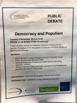 Public Debate: Democracy and Populism