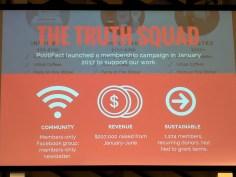 Aaron SHAROCKMAN presentation. Global Fact 4 conference, Madrid, Spain. #GlobalFact4 @factchecknet @Poynter @ReportersLab (c) Allan LEONARD @MrUlster