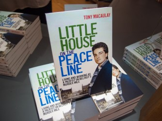 Book launch of Little House on a Peace Line (Tony MACAULAY), Duncairn Centre for Culture and Arts, Belfast, Northern Ireland.