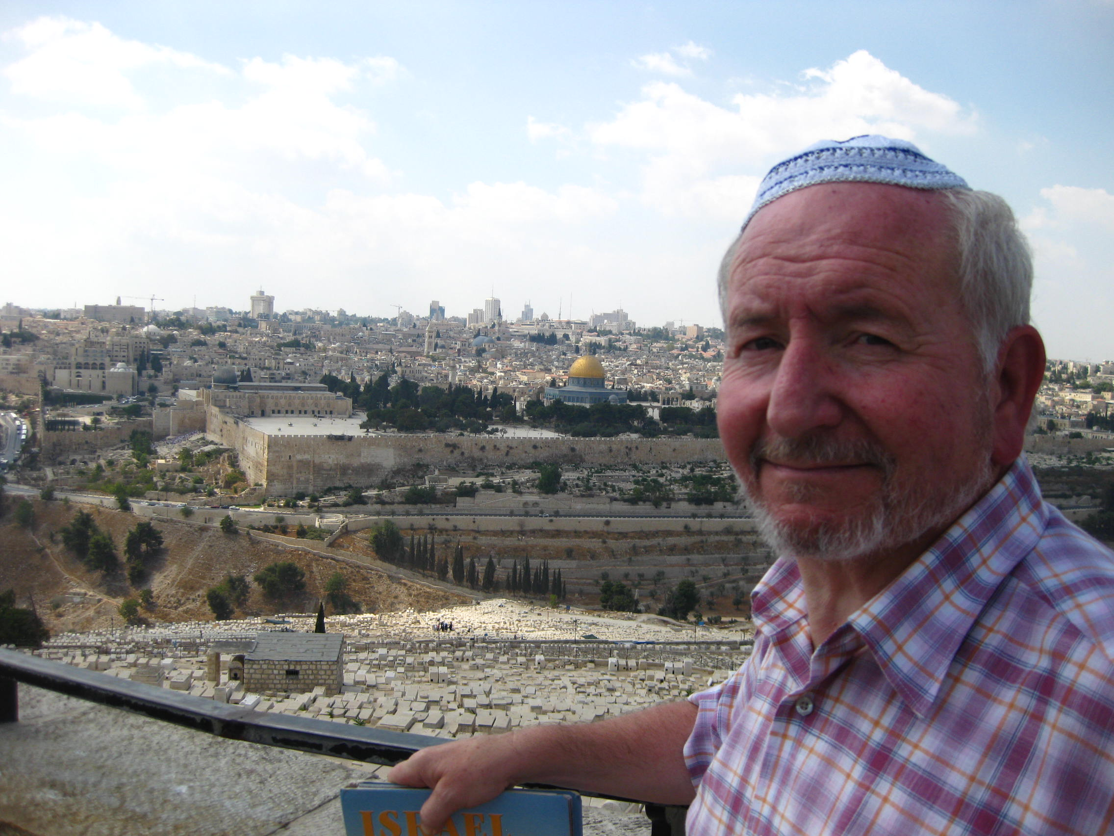 John Trew overlooks Jerusalam