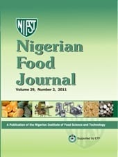 nifoj, nifst, nigerian food journal, ajol,