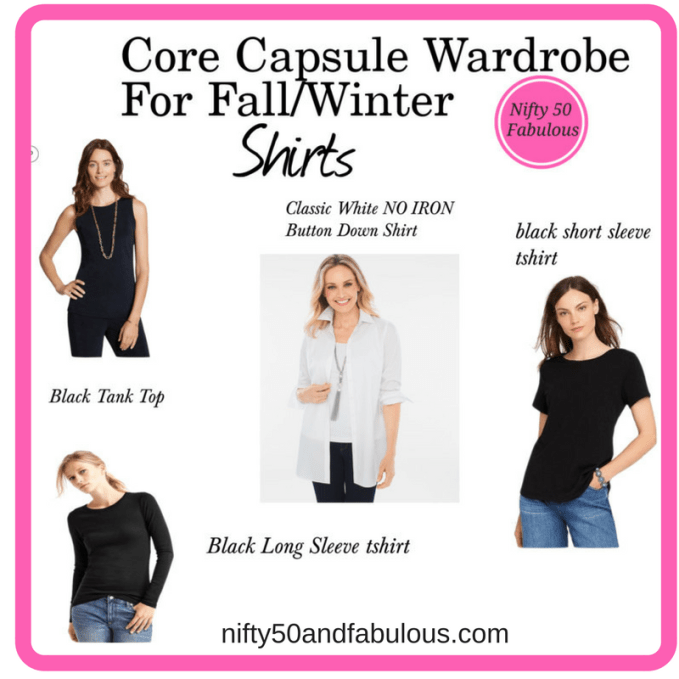 Capsule Wardrobe For Fall/Winter-Shirts