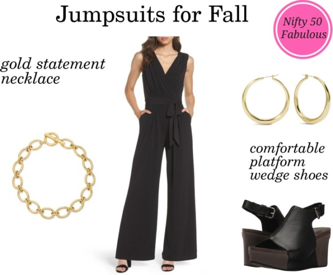 Styling Faux Wrap Jumpsuit for Fall