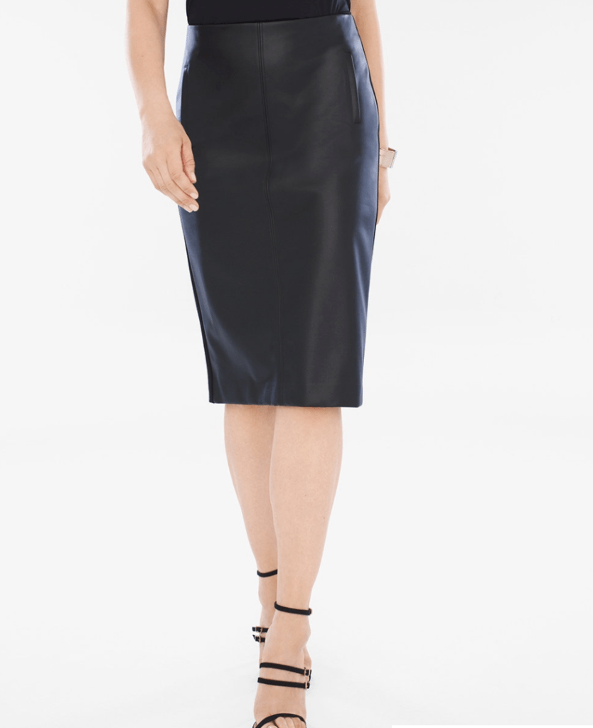 Faux Leather Skirt from Chicos