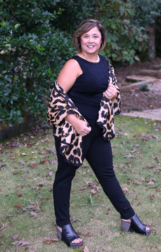 Cheetah Scarf from Old Navy as a shawl