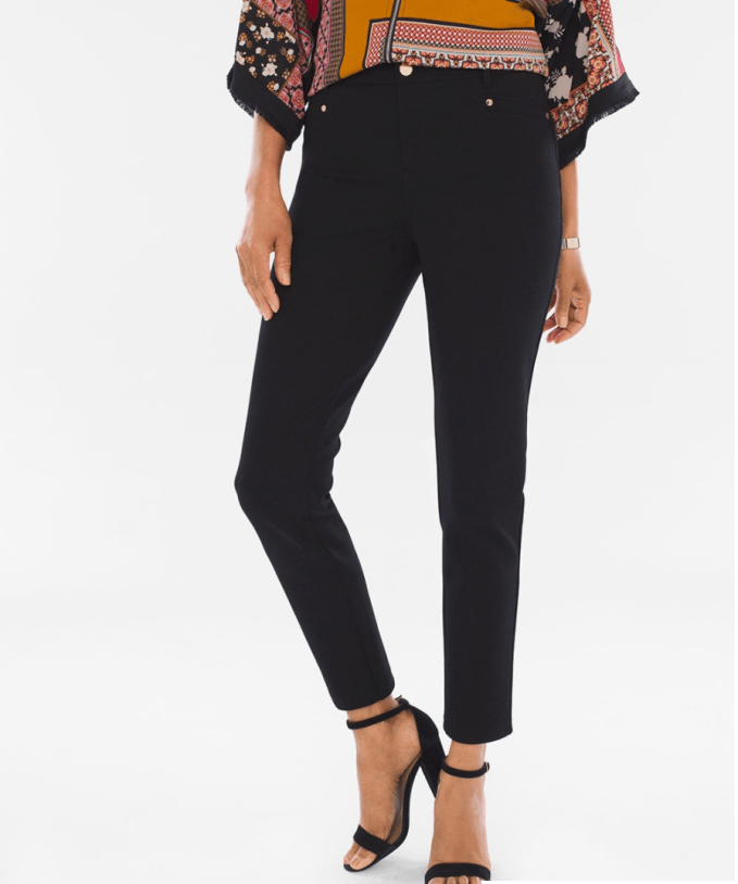 Chico's So Slimming Ponte Ankle Pants
