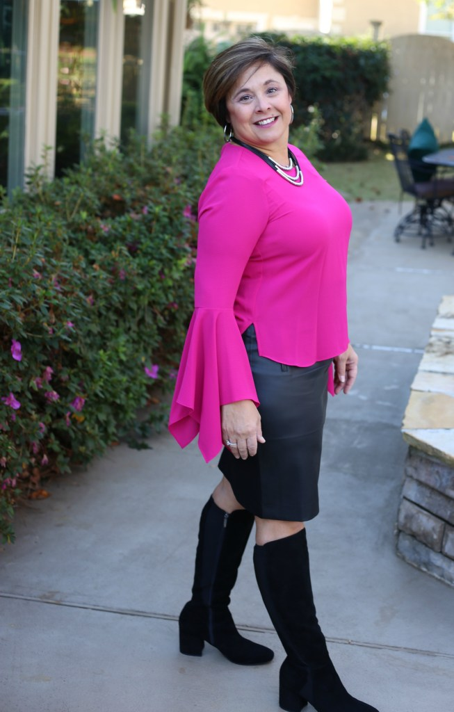Hot Pink Top With Bell Sleeves From Nordstrom
