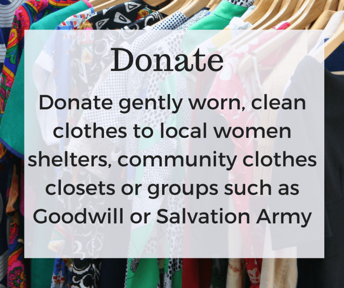 Donate gentle worn items to worthy cause