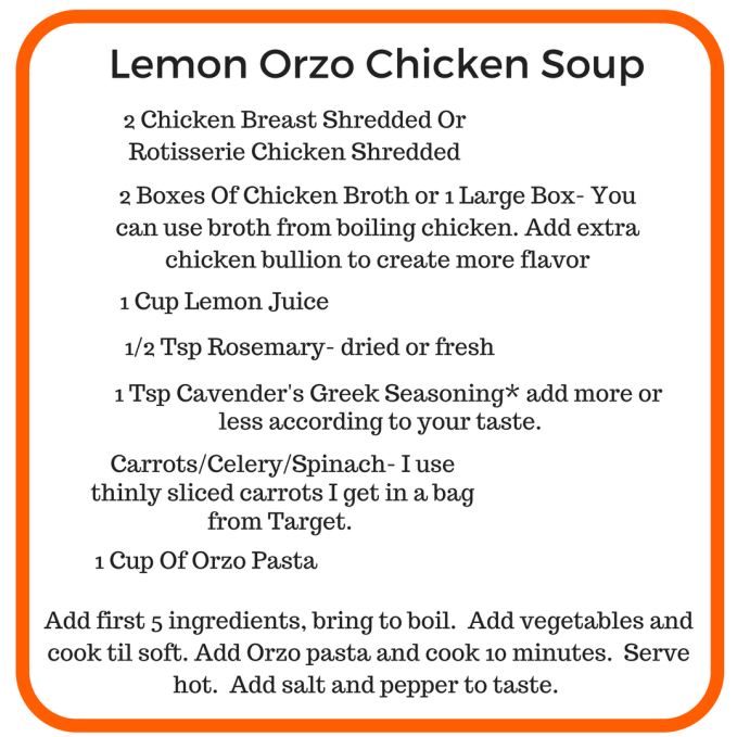 Easy Lemon Orzo Soup