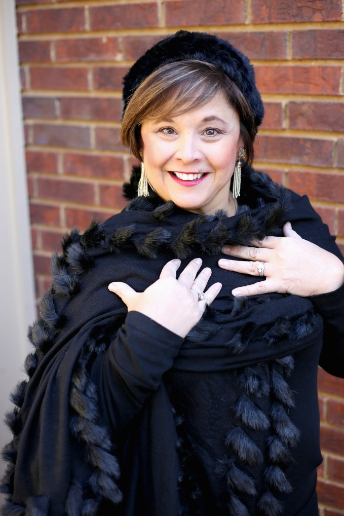 Black Shawl With Matching Black Hat From Chicos