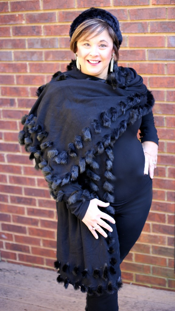 Black Shawl From Chicos