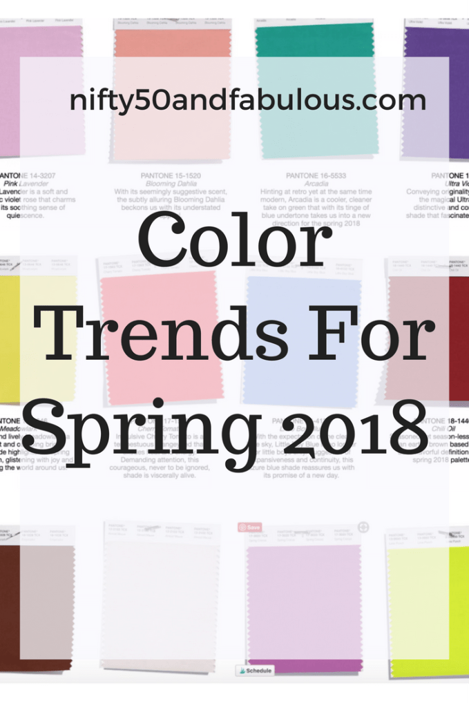 Color Trends For Spring 2018