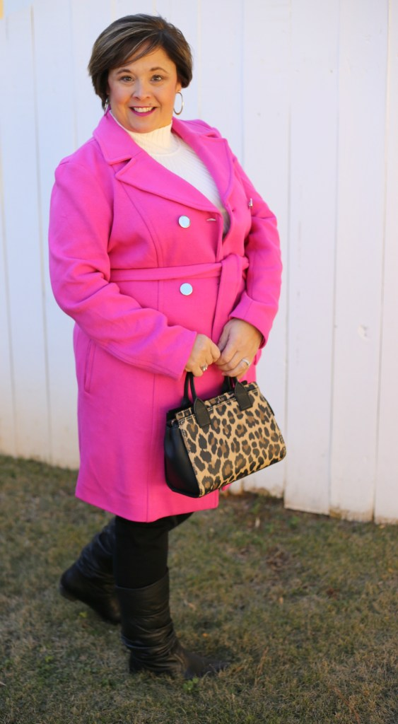 Pink Winter Coat And Kate Spade Purse
