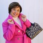 Think Pink! Pink Winter Coat And Kate Spade Purse