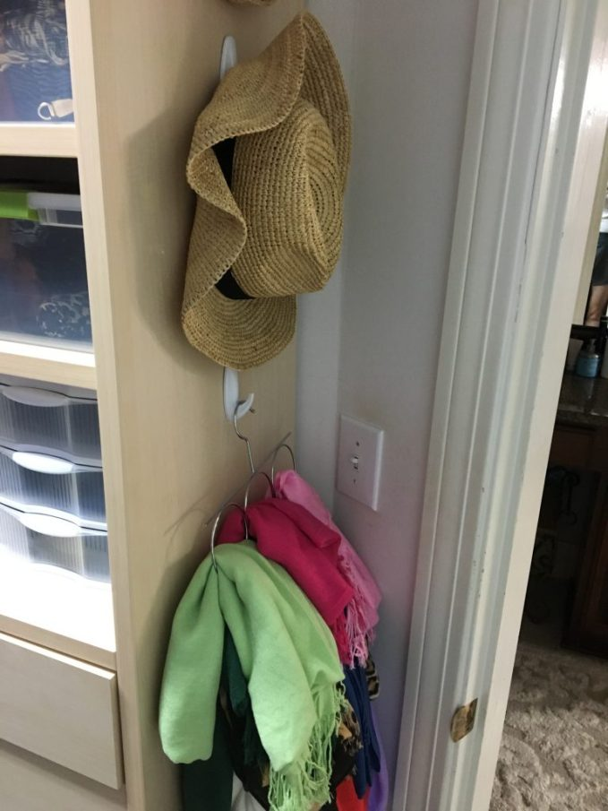 Using Command Strips to hang hats
