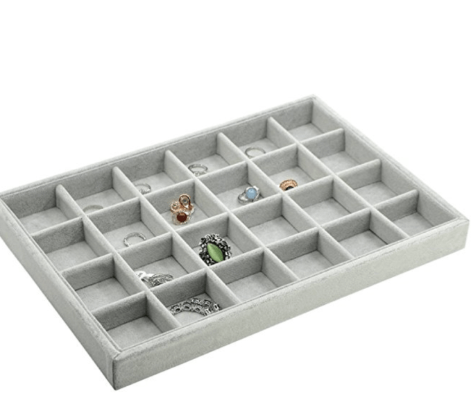 Stackable Compartment Trays For Organizing Earrings