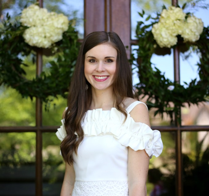 White Dress For Bridal Tea