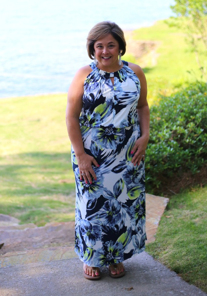 Chico's Floral Maxi Dress