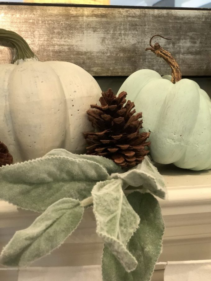 use touch of natural elements such as pinecones
